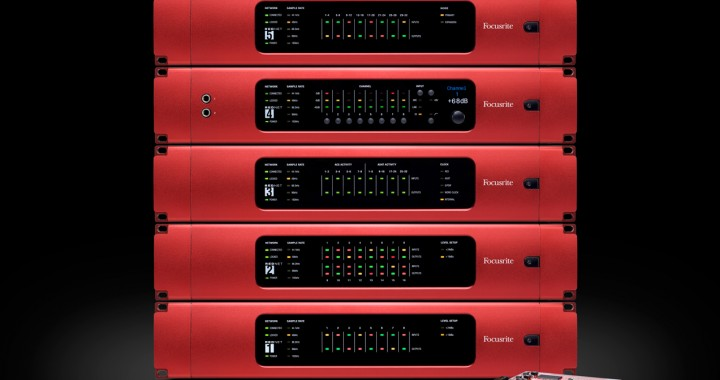 focusrite rednet interfaces