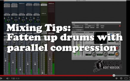Fatten up drums with parallel compression