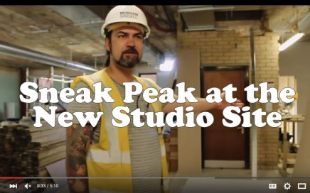 New studio site tour