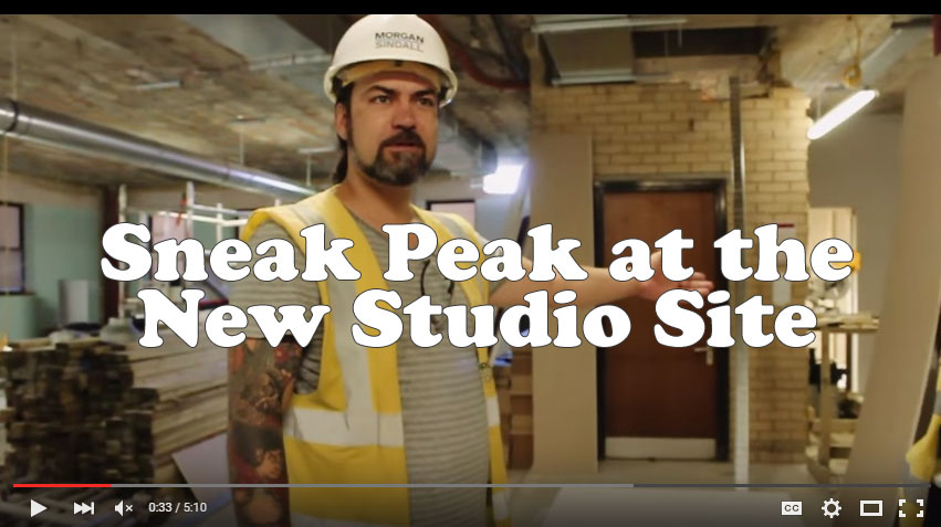 New studio site tour