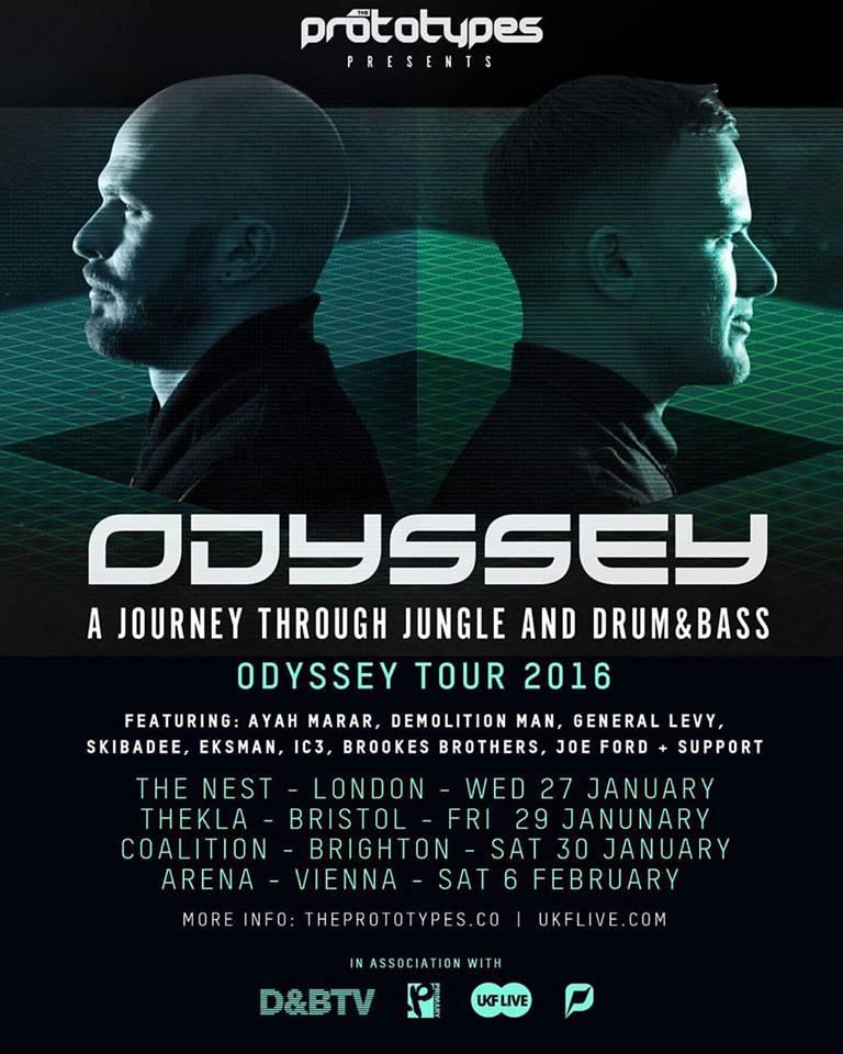 Odyssey tour flyer